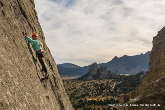 Alex, 13, at Idaho's Castle Rocks State Park.