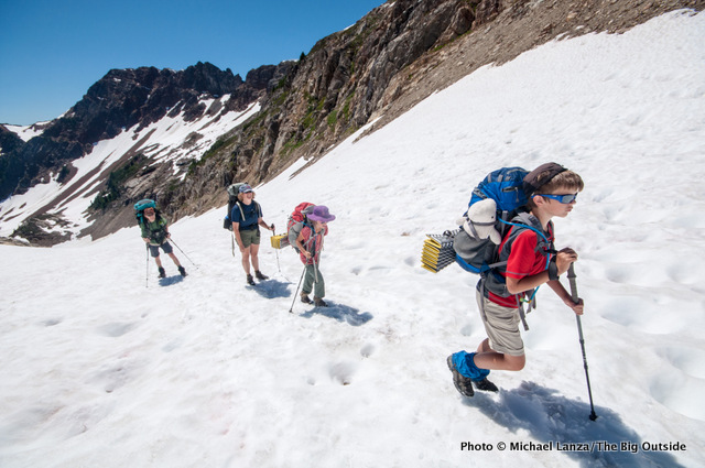 Backpacking to Spider Gap, Glacier Peak Wilderness.