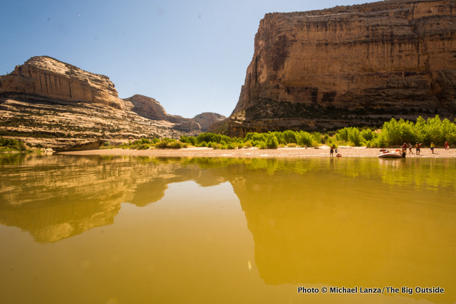 Echo Park in Whirlpool Canyon, Dinosaur National Monument.