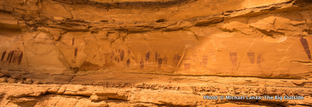 The Great Gallery in Horseshoe Canyon, Canyonlands National Park.