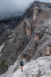 Trail 701 above San Martino di Castrozza, Parco Naturale Paneveggio Pale di San Martino, Dolomite Mountains, Italy.