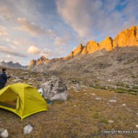 A campsite in Titcomb Basin, in Wyoming's Wind River Range.