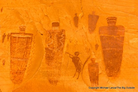 The Great Gallery pictographs of Horseshoe Canyon in Utah's Canyonlands National Park.