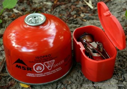 MSR Pocketrocket 2 with canister.