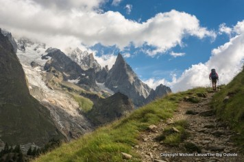 Hiking to Courmayeur, Italy, on the Tour du Mont Blanc.