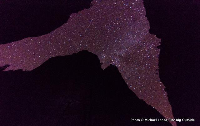 Stars above campsite one in Zion's Narrows.