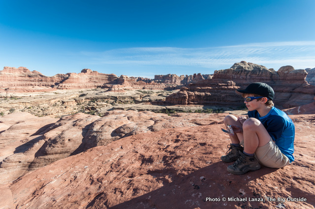 My son, Nate, at the Big Spring-Squaw Pass, Needles District, Canyonlands National Park.