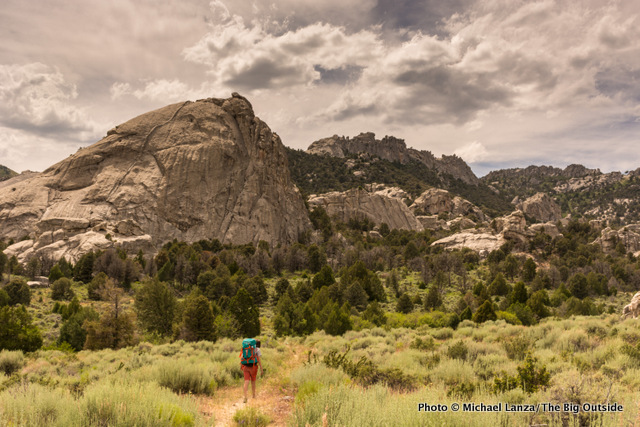 My son, Nate, hiking in Idaho's City of Rocks National Reserve.