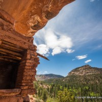 Ancestral Puebloan ruins, Woodenshoe Canyon, Utah.