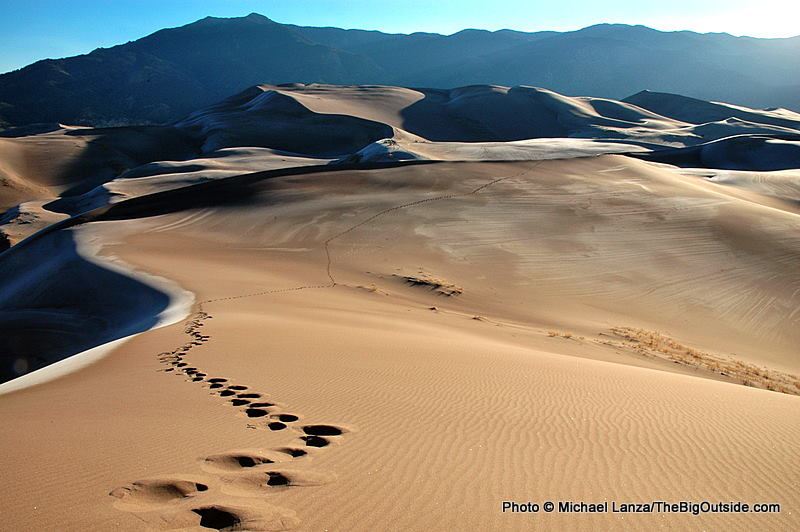 Hiking in Great Sand Dunes National Park.