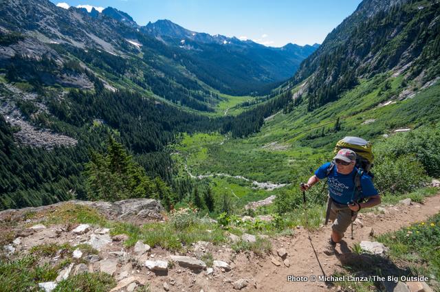 The trail to Spider Gap, Glacier Peak Wilderness, Washington.