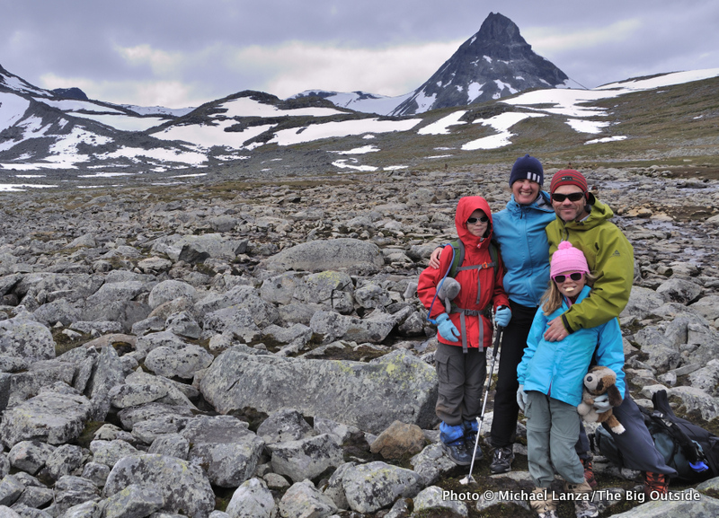 My family on a multi-day hut trek through Norway's Jotunheimen National Park.