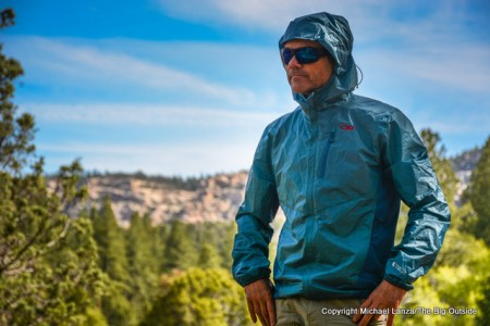 The Outdoor Research Helium Hybrid Hooded Jacket.
