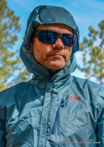 Outdoor Research Helium Hybrid Hooded Jacket hood.