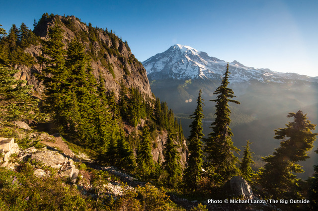 View from the top of the Eagle Peak Trail, Mount Rainier National Park.