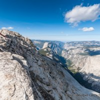 Hiking Clouds Rest in Yosemite National Park.