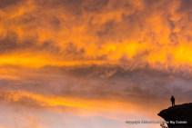 Sunset at the City of Rocks, Idaho.