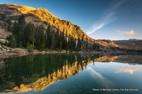 Dawn at Quiet Lake in Idaho's White Cloud Mountains.