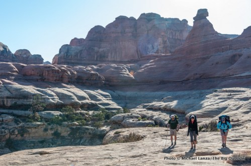 Backpacking Squaw Canyon in the Needles District, Canyonlands National Park.