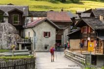 The village of Issert, Switzerland, on the Tour du Mont Blanc.