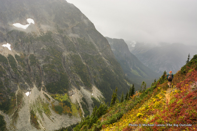 Backpacking in North Cascades National Park.