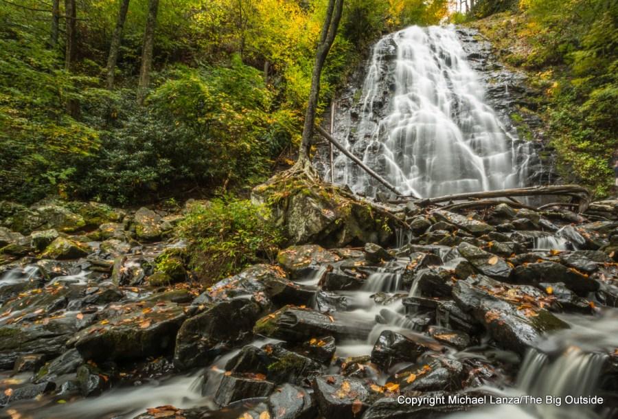 Crabtree Falls, along the Blue Ridge Parkway, Pisgah National Forest, North Carolina.