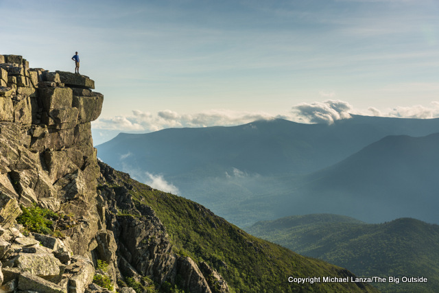 Mark Fenton on Bondcliff in the Pemigewasset Wilderness, White Mountains, N.H.