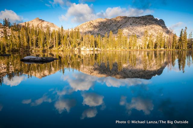Rock Slide Lake, deep in Idaho's Sawtooth Mountains.