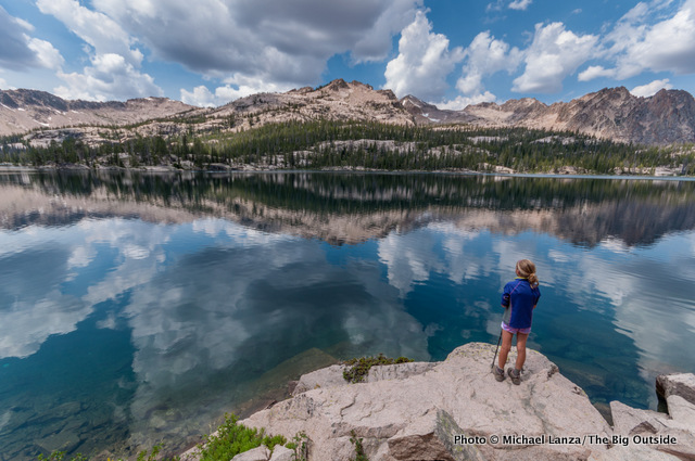Imogene Lake in Idaho's Sawtooth Mountains.