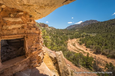 Ancient ruins in Woodenshoe Canyon, in Utah's Dark Canyon Wilderness.