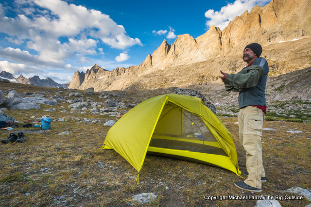 Testing the Marmot Tungsten UL 2P in Wyoming's Wind River Range.
