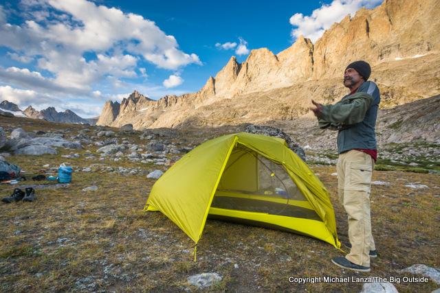 Testing the Marmot Tungsten UL 2P in Wyoming's Wind River Range.