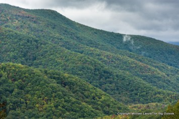 A viewpoint along Blue Ridge Parkway, Pisgah National Forest.