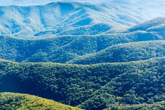 The view from Devils Courthouse, along the Blue Ridge Parkway, Pisgah National Forest, N.C.
