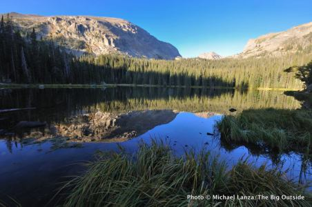 Ouzel Lake in Wild Basin, Rocky Mountain National Park, Colorado.