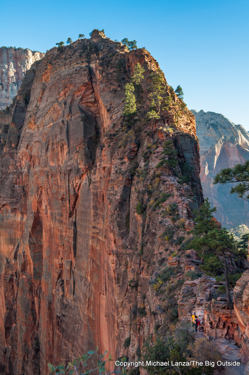 Hikers on Angels Landing, Zion National Park.