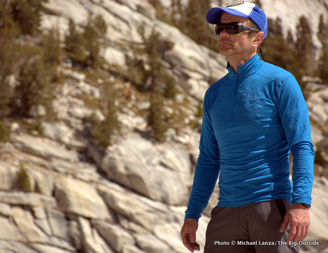 Arc'teryx Satoro AR Zip Neck LS at California's Mount Whitney.