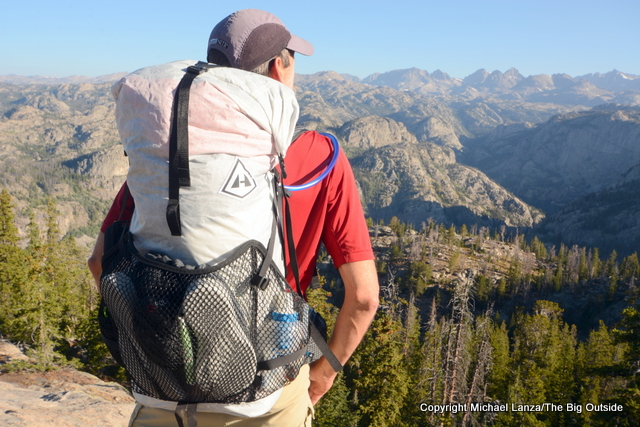 Hyperlite Mountain Gear 3400 Windrider backpack in the Wind River Range.