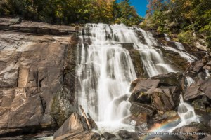 Rainbow Falls, Gorges State Park and Nantahala National Forest.