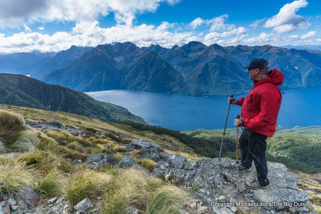 On the Kepler Track above Lake Te Anau, Fiordland National Park.