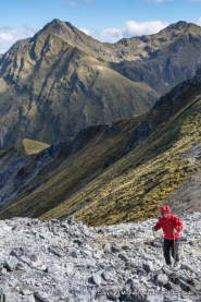 Hiking Mount Luxmore, Kepler Track, Fiordland National Park.