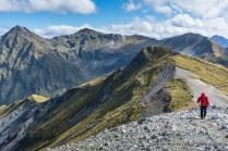 Hiking Mount Luxmore, Kepler Track, Fiordland National Park.
