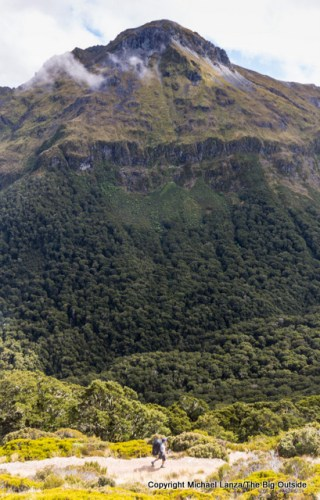 Hiking the Kepler Track to Iris Burn, Fiordland National Park.