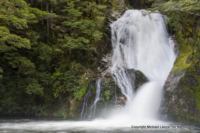 Iris Burn Waterfall, Kepler Track, Fiordland National Park.