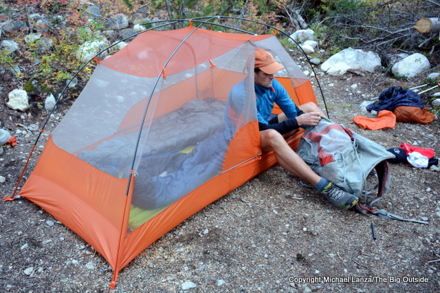 The Big Agnes Copper Spur HV UL2 in North Cascades National Park.