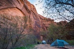 Big Spring camp in Paria Canyon in Utah and Arizona.