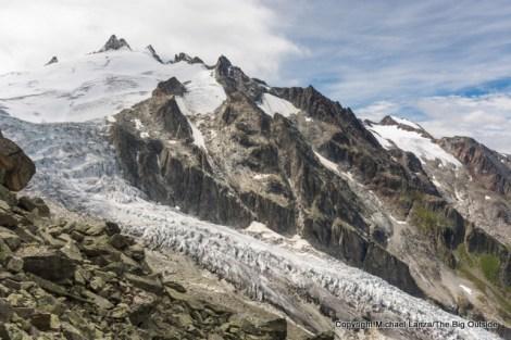 The Glacier du Trient, Tour du Mont Blanc, Switzerland.