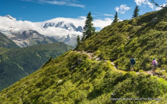 Hiking from Emosson dam to Le Buet, Switzerland.