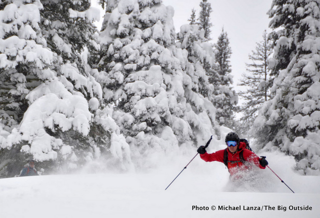 Chip Roser backcountry skiing in Idaho's Boise Mountains.