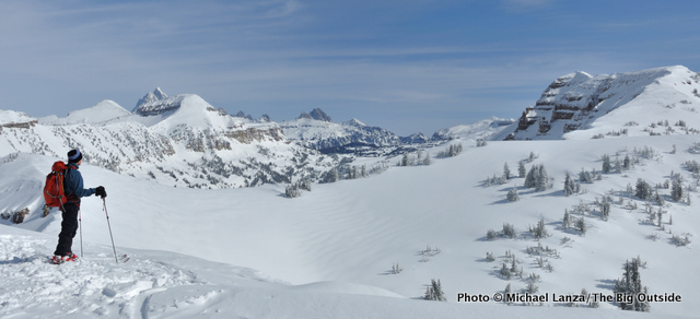 Backcountry skiing high in Wyoming's Tetons.